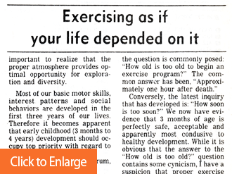 Exercise As If Your Life Depended On It